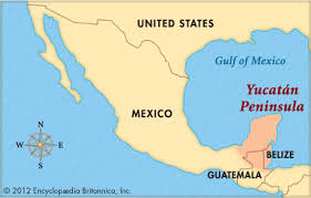 map of mexico yucatan region yucatán peninsula britannica homework help