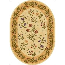 Lowes Round Rugs Sale Shop Mohawk Home Summer Flowers Beige Oval Indoor Tufted Area Rug