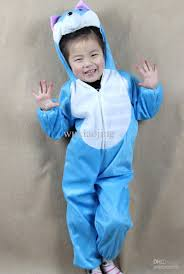 lint kid perform clothes blue cat halloween costume accessories