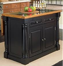 Amazoncom Home Styles Monarch Slide Out Leg Kitchen Island With - Granite top island kitchen table