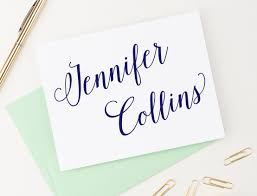 personalized stationary modern calligraphy folded personalized stationery modern pink paper
