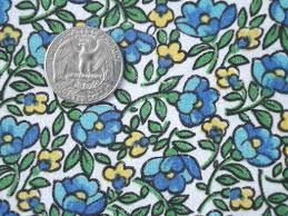what is floral pattern in french vintage belgian cotton fabric french blue yellow floral print remnant