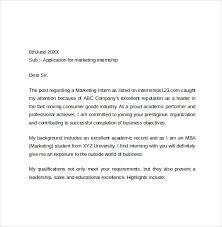 marketing cover letter cover letter for marketing internship 9 intenship nardellidesign
