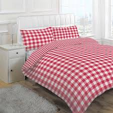linens limited large tonal gingham duvet cover set red double for attractive household gingham duvet cover ideas