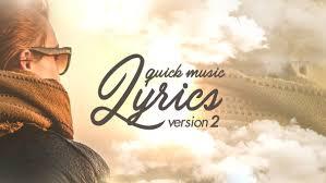quick music lyrics u2013 v2 3d object after effects templates f5