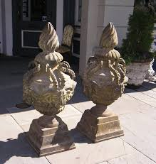 pair of american cast iron mythological garden ornaments for sale