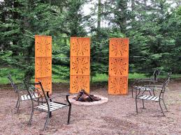 3 large garden panels privacy screen trellis
