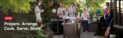Serving Station Patio Cabinet Amazon Com Keter Unity Indoor Outdoor Bbq Entertainment Storage