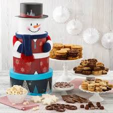 mrs fields gift baskets mrs fields happy snowman tower snowman holidays and