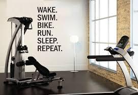 triathlon motivational wall decal wake swim bike run