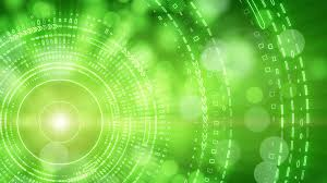 green abstract background lights and tech circles loop motion