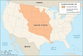 usa map louisiana purchase transcontinental treaty spain united states 1819 britannica