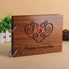 photo albums with sticky pages 8 inch 30 pages diy photo album wooden cover baby family
