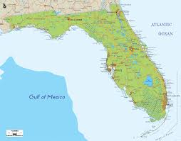 St Johns Florida Map by Physical Map Of Florida Ezilon Maps