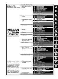 2008 2009 nissan altima hybrid l32 oem factory service and repair
