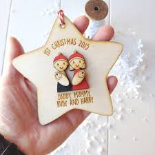 Twins First Christmas Ornament Personalised Family With Baby Twins Tree Decoration By Just
