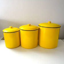 ceramic kitchen canisters yellow fiestaware cannisters vintage