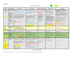 weekly lesson plan template word document
