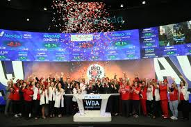 bell rings red images Walgreens boots alliance inc rings nasdaq opening bell in jpg