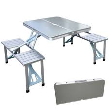 Portable Folding Picnic Table Xtremepowerus Outdoor Aluminum Portable Folding C