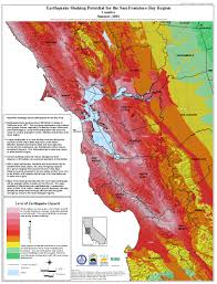 San Francisco County Map by San Francisco Earthquake Risk Map Michigan Map