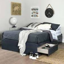 full size captains bed with storage drawers white platform