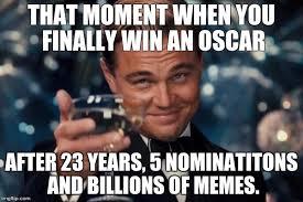 Leo Oscar Meme - leo wins oscar imgflip