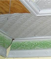 How To Fit Cornice To Ceiling How To Install A Tin Ceiling Old House Web