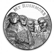 Mt Rushmore Map 2 Oz Silver Mount Rushmore Ultra High Relief Round American