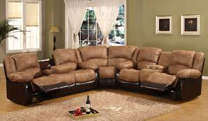 sofa seven piece reclining sectional sofa with cupholders la z