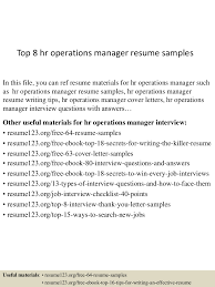 resume format for operations profile top8hroperationsmanagerresumesamples 150515024418 lva1 app6892 thumbnail 4 jpg cb 1431657901