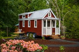 tiny house zoning regulations what you need to know curbed a red and white tiny home in mt hood oregon