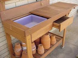 Outdoor Potting Bench With Sink Build It Yourself Potting Bench
