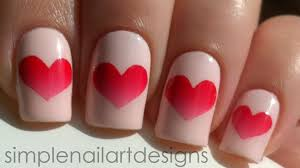 valentine u0027s day heart nail art tutorial youtube