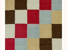 Checkered Area Rug Black And White Rug Carpet Red Black White Checkered Kilim Hand Knotted Discovered