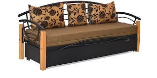 Elmo Sofa Chair Buy Elmo Metal Sofa Bed In Black U0026 Brown Colour By Home Online