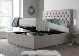maxi driftwood upholstered ottoman storage bed frame only king