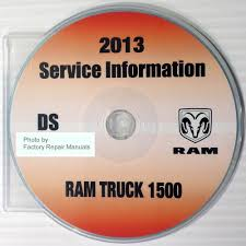 2013 dodge ram 1500 truck factory service manual cd rom original