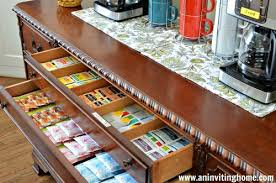 tea drawer remodelaholic 13 ideas for a home coffee bar