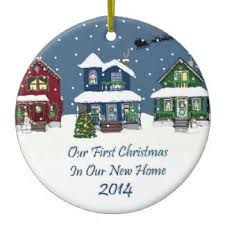 new home snowy ornaments keepsake ornaments zazzle