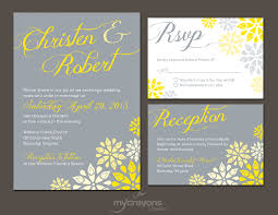 wedding invitations costco yellow and gray wedding invitations template best template