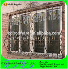 morden decorative wrought iron window grills design steel outdoor