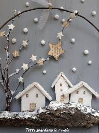 tutti guardano le nuvole christmas decorations with bark and wire