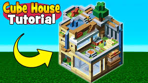 minecraft tutorial how to make a creative cube house minecraft