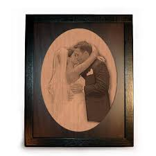 anniversary engraving laser engraved framed pyrographs wood creations