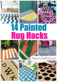 Painting A Jute Rug Tips For Rug Painting Blogger Home Projects We Love Pinterest