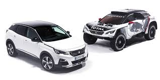 peugeot suv 2016 2017 peugeot 3008 dkr twin turbo rear drive suv revealed for