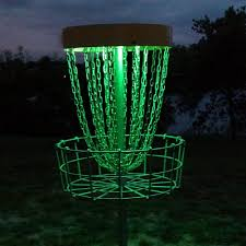 glow lights set of 2 led lights for disc golf basket multi