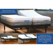 table inspiring tempurpedic ergo adjustable bases sleep on it base