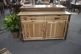 amish roseburg island with two drawers and two doors amish rustic hickory bar kitchen island bar kitchen bar and kitchens